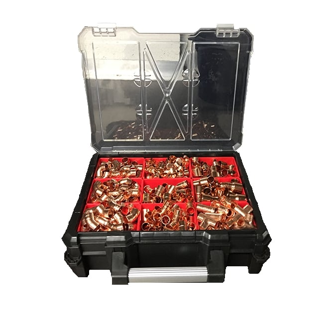 JTM Endfeed Bulk 600 Fittings With Free Case