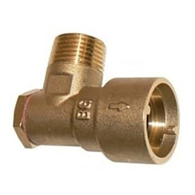 """JTM Gas cooker socket 1/2"""" angle bayonet"""