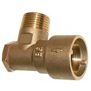 "Gas cooker socket 1/2"" angle bayonet"