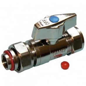 IsoPlus Chrome Plated Straight Service Valve