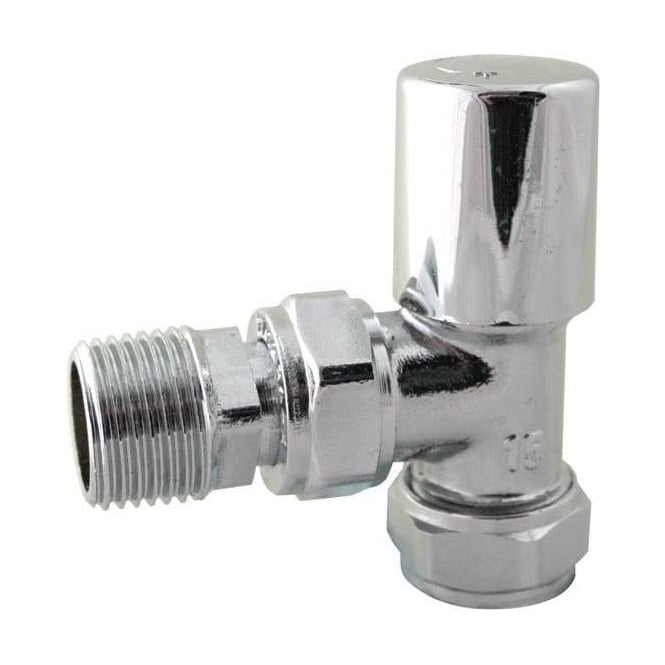JTM Pioneer All Chrome Angle Radiator Valve