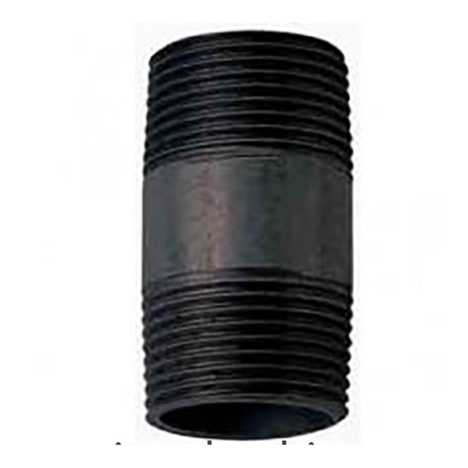 JTM Pipeline Black Barrel Nipple