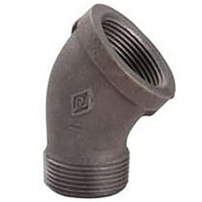 Black M/F Elbow 45 Degree