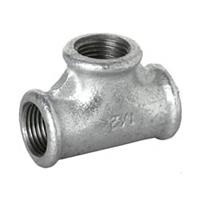 JTM Pipeline Galvanised Equal Tee BSP