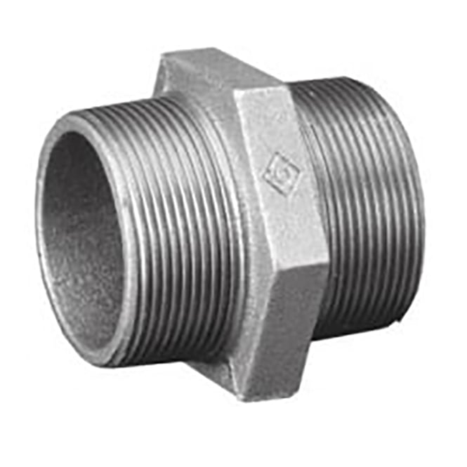 Galvanised Malleable Iron Barrel Nipple 20mm Pipe Fitting 3//4/""