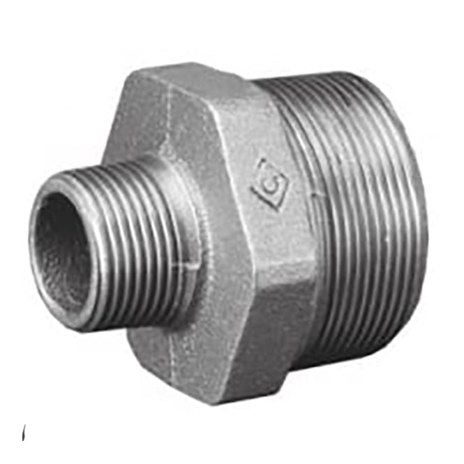 JTM Pipeline Galvanised Reducing Hexagonal Nipple BSPT