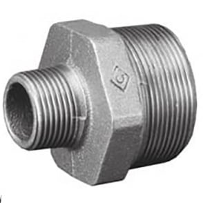 Galvanised Reducing Hexagonal Nipple BSPT
