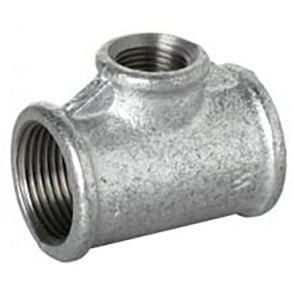 Galvanised Reducing Tee