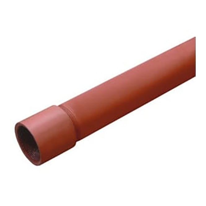 JTM Pipeline Red Oxide (Black Malleable) BS1387 Medium Tube 3.2mts Screwed & Socketed