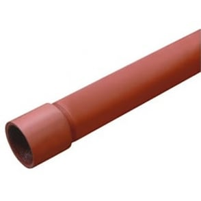 Red Oxide (Black Malleable) BS1387 Medium Tube 3.2mts Screwed & Socketed