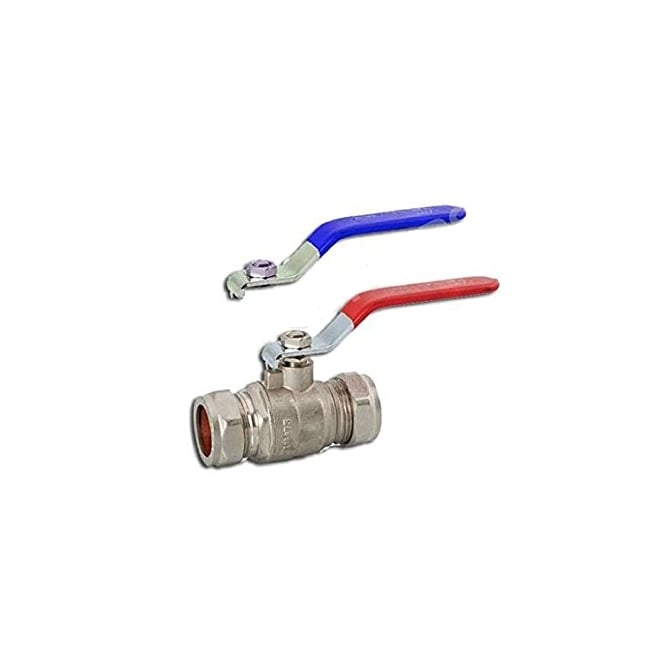 JTM Red Or Blue Handle Lever Ball Valves Full Bore