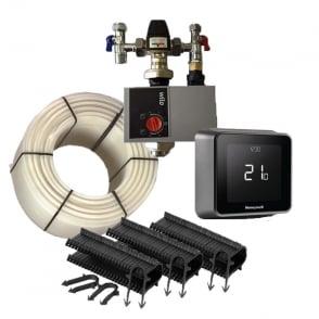15m² Single Zone Underfloor Heating Pack w/ Honeywell Lyric T6 Smart Enabled Thermostat