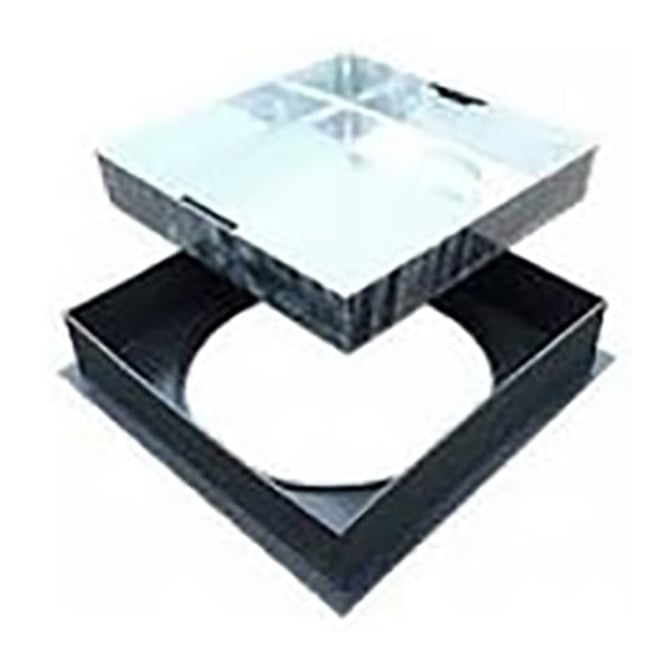 JTM Underground Round to Square Top Pavior Infill Cover and Frame