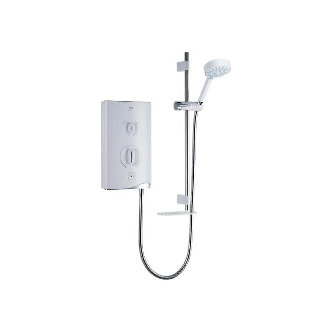 Mira Sport White/Chrome 10.8Kw Electric Shower C/W Multi Mode Slide Rail Kit