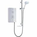 Sport White/Chrome 10.8Kw Electric Shower C/W Multi Mode Slide Rail Kit