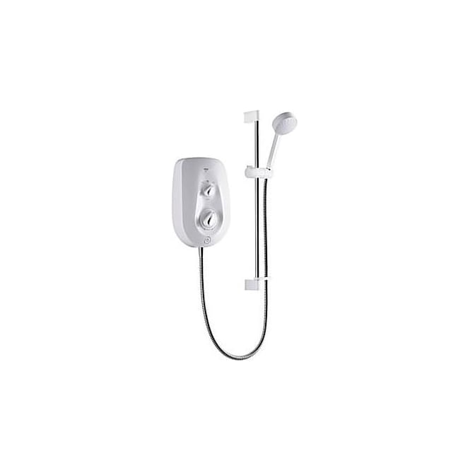 Mira Vie White/Chrome 8.5Kw Electric Shower C/W Multi Mode Slide Rail Kit