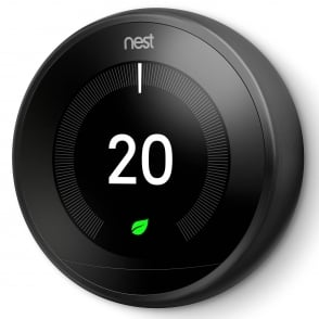 Nest Learning Thermostat 3rd Generation Black Colour Ring - £196.50 Inc VAT