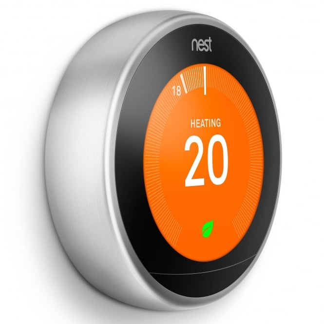 Nest Learning Thermostat 3rd Generation Stainless Steel Ring - £196.50 Inc VAT