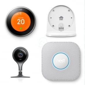 Learning Thermostat c/w Stand, Smoke & CO Alarm and Smart Indoor Camera - £450 Inc VAT