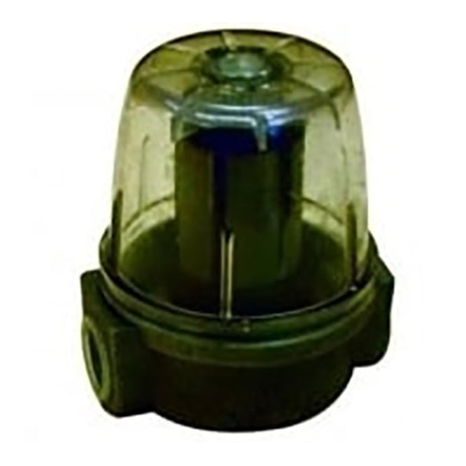 """Oil filter - clear plastic bowl 3/8"""""""