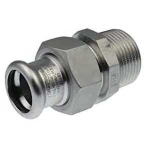 SS69 Xpress Stainless Steel Straight Male Union BSP Taper Thread