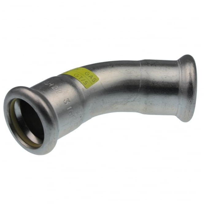 Pegler Yorkshire Xpress SSG21 Xpress Gas Stainless Steel 45° Elbow