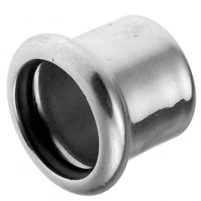 Xpress Copper Chrome S61CP Press Stop End  (Sizes: 15mm)