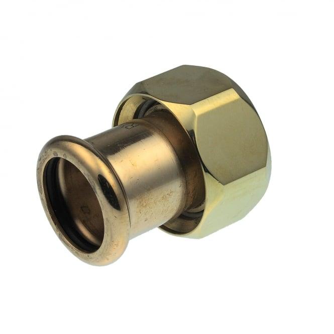 Pegler Yorkshire Xpress Xpress Copper S68FF Press Flat Faced Union Adaptor