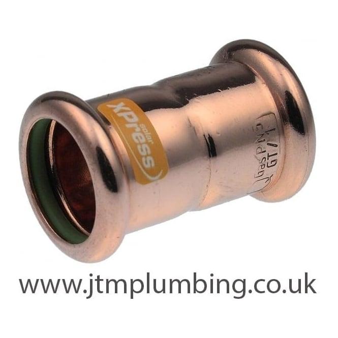 Pegler Yorkshire Xpress Xpress Copper Solar Press Coupling 15mm - 54mm