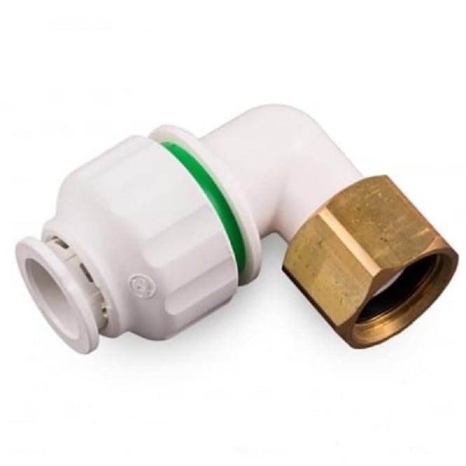 "Pipelife Pushfit Bent Tap Connector 15mm x 1/2"""