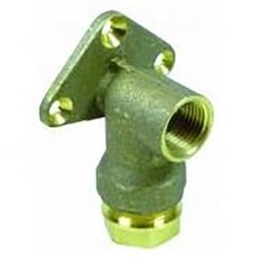 PLASS-ONE 1000 Pushfit Brass Wallplate Elbow