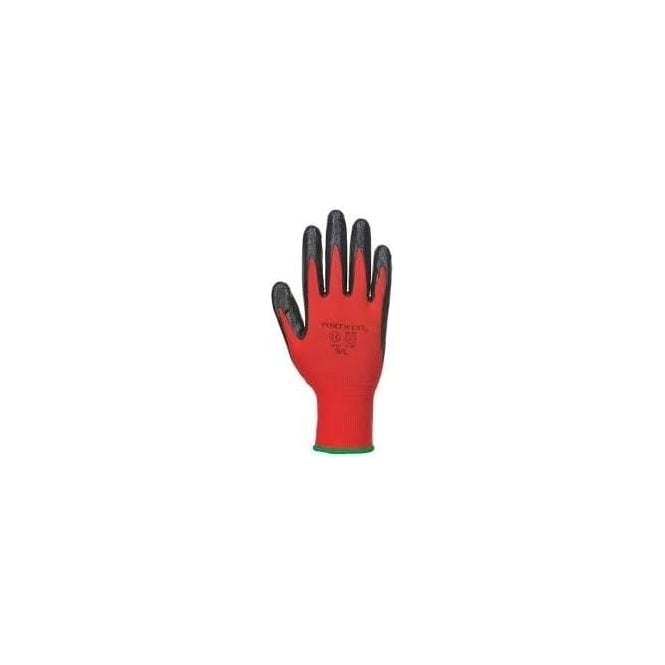 Portwest Flexo Grip Nitrile Glove (Black & Red)