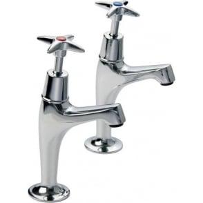 X Top Sink Pillar Taps