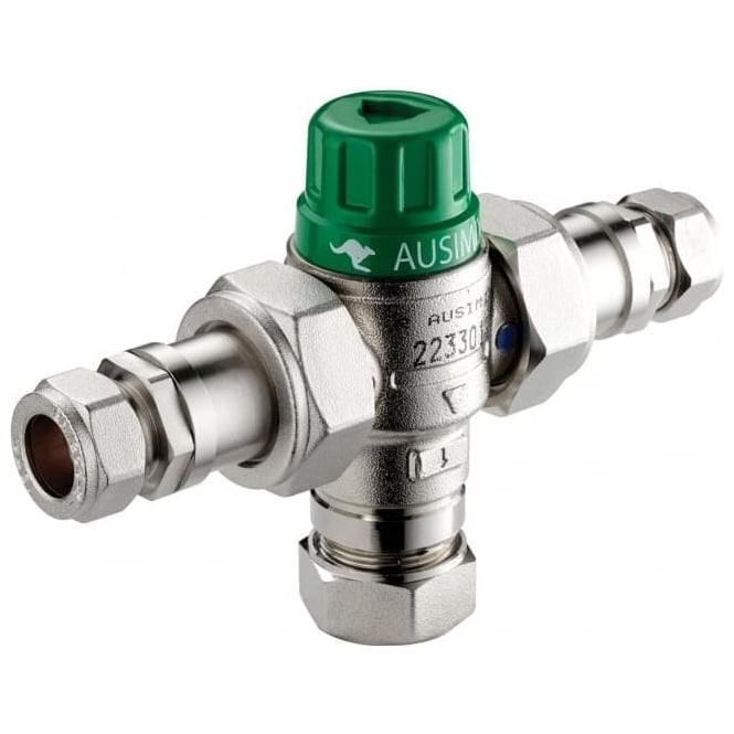 Watts Thermostatic Mixing Valve: Reliance Water Controls (RWC) Ausimix Compact Thermostatic
