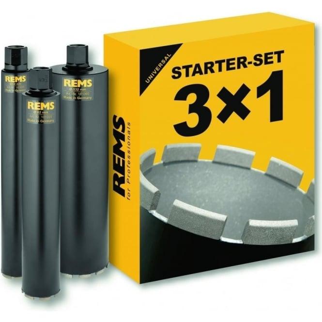 Rems 181102 UDKB Diamond Core Drilling Crowns Starter Kit 62-82-132mm