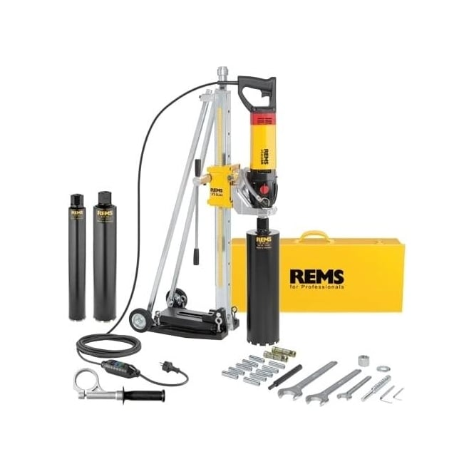 Rems 183023 Picus SR Set Titan Diamond Core Drilling Machine With Diamond Cores 62-82-132mm