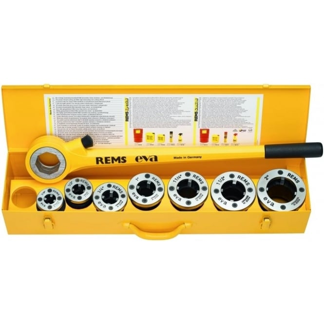 "Rems (520015) Eva Set R ½-¾-1-1¼"" Manual Hand Threading Machine 1/2"" - 1.1/4"" Dies"