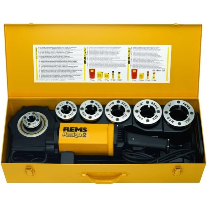 "Rems (540020) Amigo 2 Set R ½ – 2"" Electric Pipe Threading Machine For Pipe Threads 1/2"" - 2"""