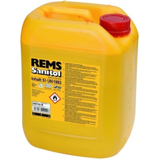 Rems (140110) Sanitol 5L Can Mineral Free Cutting Oil