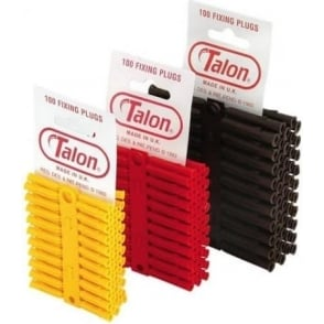 Talon Brown Wall Plugs 7mm (Drill Bit Required) Bulk Buy