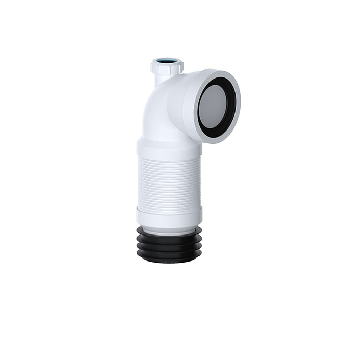 "Viva Sanitary 90° Flexible Pan Connector 32mm Adapter (1 1/4"")"