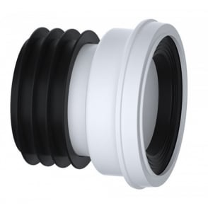"Straight WC Pan Connector 4"" (110mm)"
