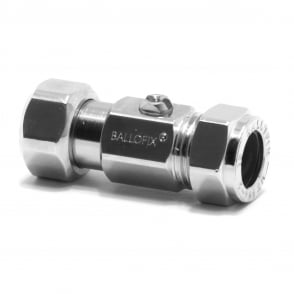 Ballofix Service Valve Straight Swivel Pattern 15mm x 1/2""