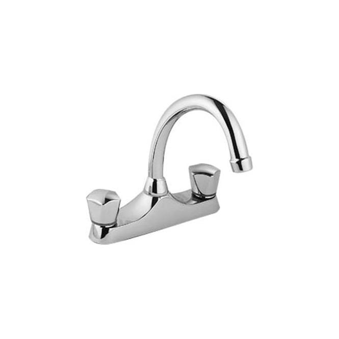 Pegler Yorkshire Danum DCD Deck Sink Mixer Tubular Spout. Dualflow.