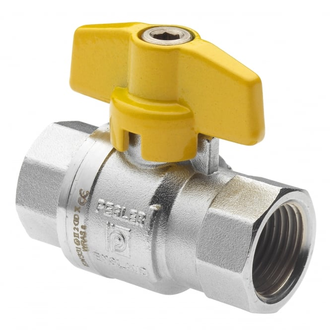 Pegler Yorkshire PB700T PN40 Full Bore Yellow T Handle FxF