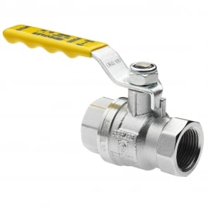 Pegler PB500 PN25 Full Bore Lever Valve Yellow Handle FXF