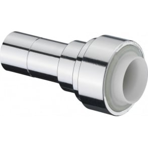 Terrier Chrome Straight Connector Push Fit