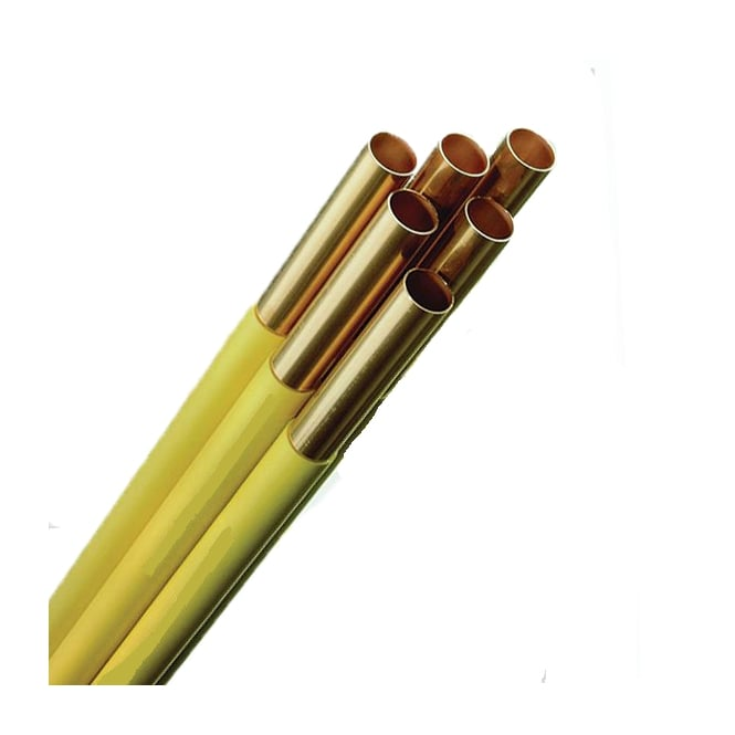 Yorkshire/Lawton/Cubralco Yellow Coated Copper Pipe Straight Lengths