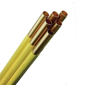 Yellow Coated Copper Pipe Straight Lengths